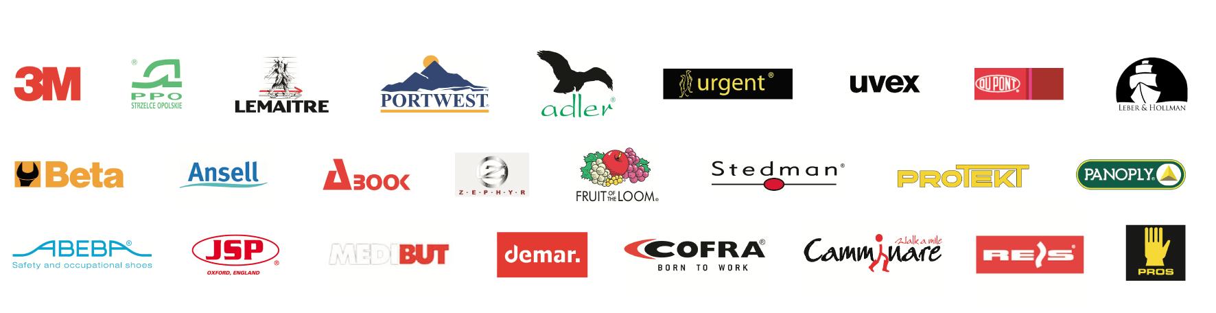 logotypy firm z którymi współpracujemy