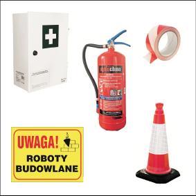 zdjęcie artykułów ochrony przeciwpożarowej i bezpieczeństwa