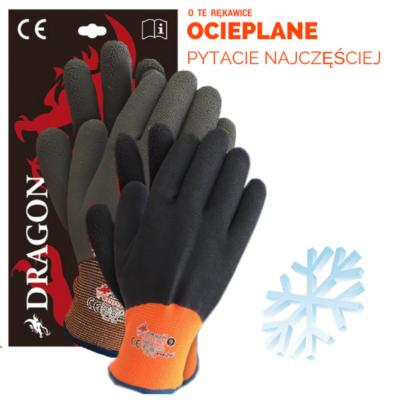 Ocieplane rękawice DRAGON